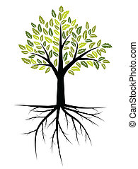 Tree illustration with strong roots
