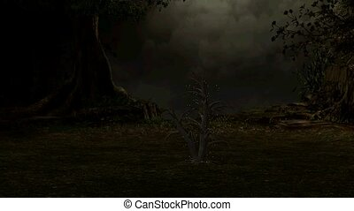 Tree In An Enchanted Forest - Magical tree growing in an...