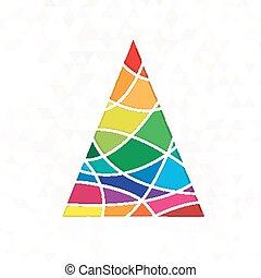 tree in rainbow colors