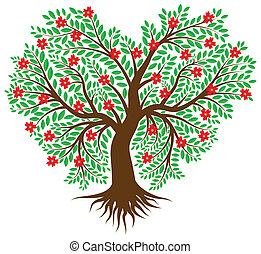 Tree in the form of heart