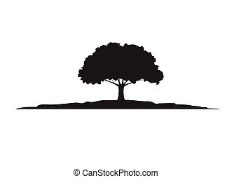 Tree isolated branch on white background. Vector Illustration.