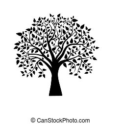 Isolated fancy tree vector