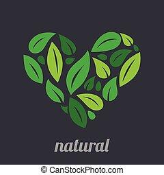 Tree Logo heart shape design vector template.