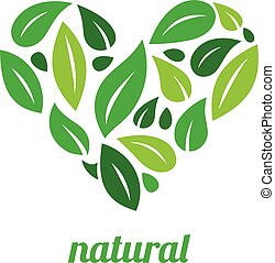 Tree Logo heart shape design vector template.