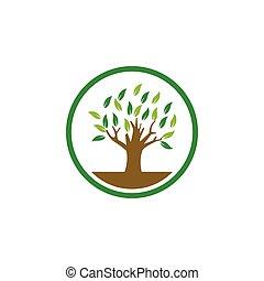Tree logo icon design template vector illustration