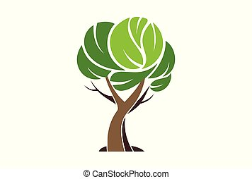 tree logo plant green icon
