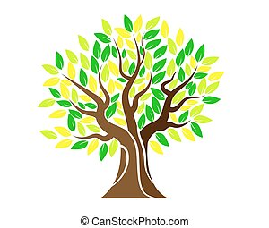 Tree logo with leaves