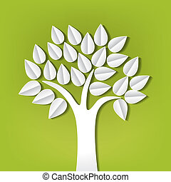 tree made of paper cut out
