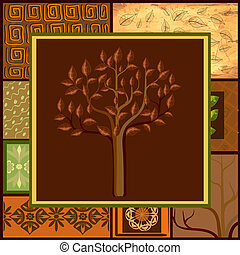 Tree Mix African backgrounds