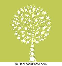 Tree mosaic of dots