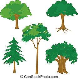 Tree Nature Green Cartoon Vector