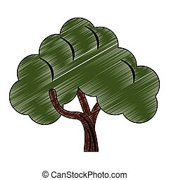 Tree nature symbol scribble