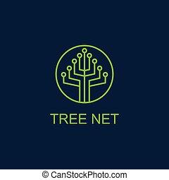 tree net logo vector