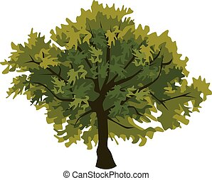 Tree oak clip art