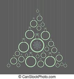 Tree of Christmas balls
