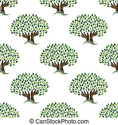 Tree of hope pattern. Seamless