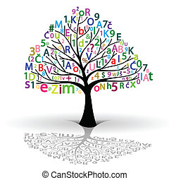 Tree of Knowledge - Illustration of the tree of knowledge of...