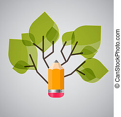 Tree of Knowledge Concept Vector Illustration