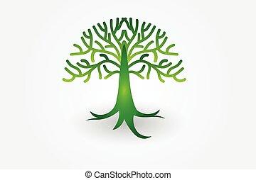 Tree of life logo vector