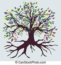 Tree of life rough rainbow versio