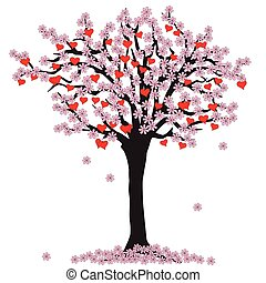 tree of love with blossoms