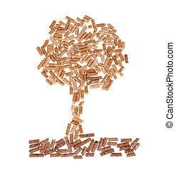 Tree of wood pellet
