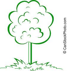 Tree on a meadow