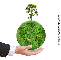 Tree on the world business concept