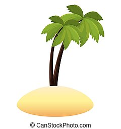 tree palms isolated icon