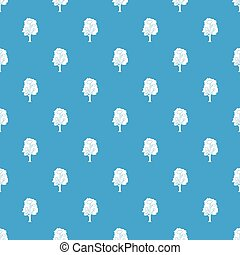 Tree pattern seamless blue