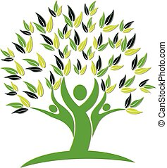 Tree people nature icon logo