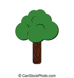 tree plant nature season icon. Vector graphic
