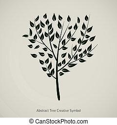 Tree plant vector illustration. Nature abstract design symbol