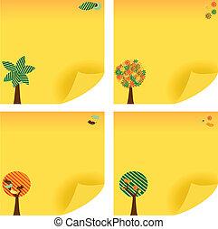 Tree Post Note