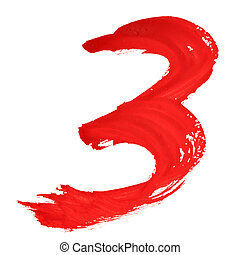 Red handwritten numerals
