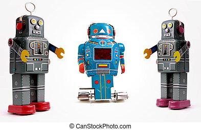 robots - tree retro robots
