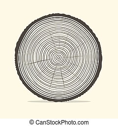 Tree Rings Vector Illustration