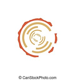 Tree rings vector sign
