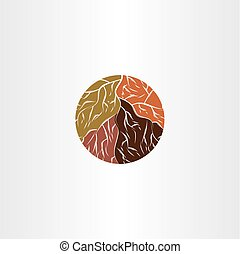tree root logo icon vector symbol