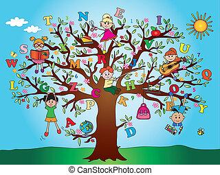 tree school children