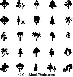 Tree Set Black And White
