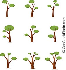 Tree set style cartoon design