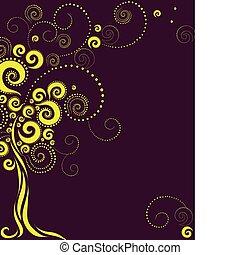 Tree shape from twirls