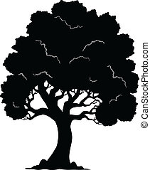 Tree shaped silhouette 1