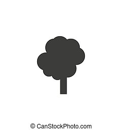 Tree sign icon in flat style. Branch forest vector illustration on white isolated background. Hardwood business concept.