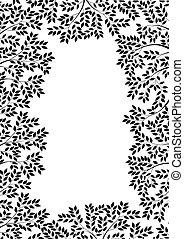 Tree silhouette - Vector illustration of tree silhouette