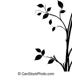 Tree Silhouette - Black and white silhouette of a tree,...