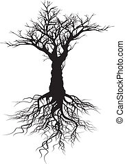 Tree silhouette - Vector tree silhouette