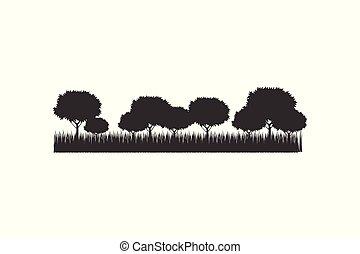 Tree silhouette Icon, vector illustration