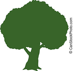 Tree (Silhouette) over white. EPS 10, AI, JPEG